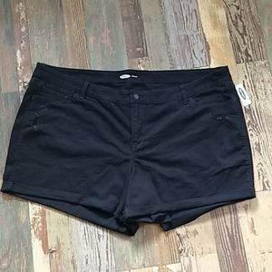 NWT | Old Navy | Black Jeans Shorts | Plus Size